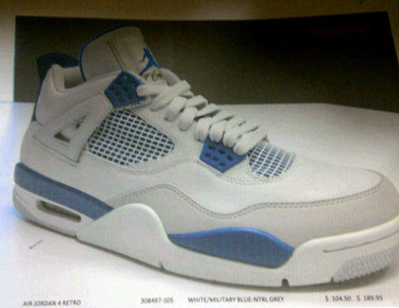 "Air Jordan IV ""Military Blue"" - Catalog Image"