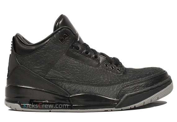 Air Jordan III Black Flip Euro Release Date