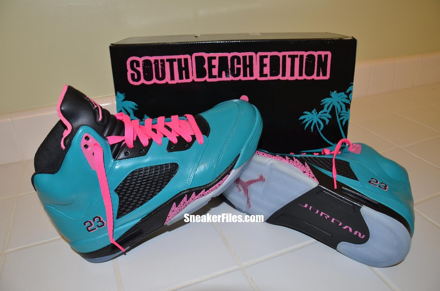 85b8d3a7f08d4a Air Jordan V (5) Retro  South Beach  Custom