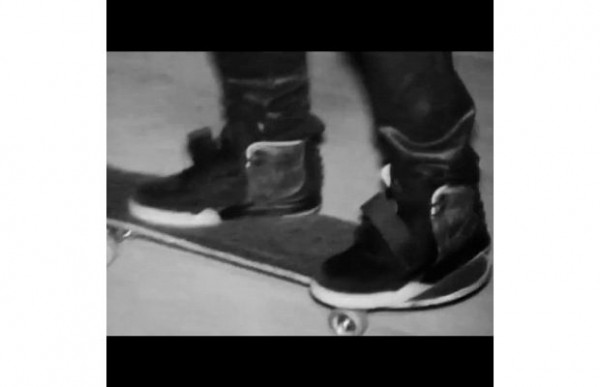 Celebrity Sneaker Watch: Kanye West Skating in Air Yeezy 2