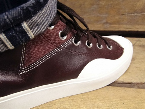 Converse First String Straight Shooter Spec Hi - Burgundy & Black