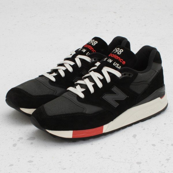 New Balance 998 Made In The USA - Black/Red - Now Available