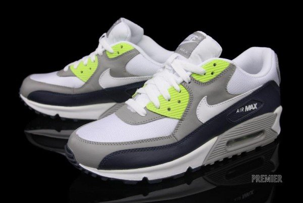 Nike Air Max 90 - Obsidian/Volt - Now Available