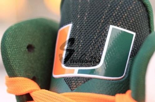 "Nike LeBron 9 ""Miami Hurricanes"" PE - A Closer Look"