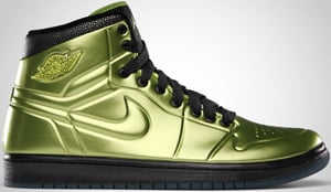 Air Jordan 1 Anodized Altitude Green Black 2010 Release Date