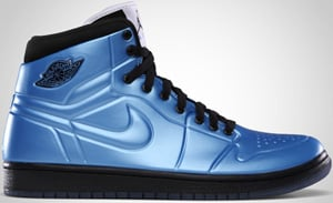 Air Jordan 1 Anodized Blue Black White 2010 Release Date