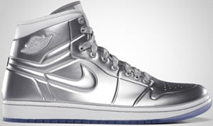Air Jordan 1 Anodized Metallic Silver White 2010 Release Date
