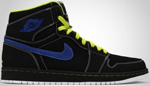 Air Jordan 1 High Black Cyber Black Blue 2010 Release Date