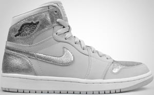 Air Jordan 1 High Silver Neutral Grey Silver White 2010 Release Date