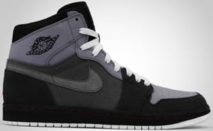 Air Jordan 1 High Stealth Red Graphite Charcoal 2010 Release Date