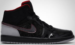 Air Jordan 1 Phat 20 Black Red Stealth White 2010 Release Date