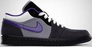 Air Jordan 1 Phat Low Anthracite Purple Stealth White 2010 Release Date