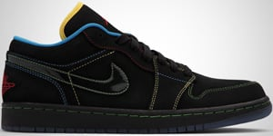 Air Jordan 1 Phat Low Black Green Varsity Red Blue 2010 Release Date