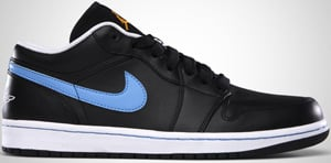 Air Jordan 1 Phat Low Black University Blue White 2010 Release Date