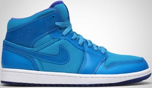 Air Jordan 1 Phat Marina Blue Medium Blue White 2010 Release Date
