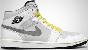 Air Jordan 1 Phat White Grey Brown Yellow 2010 Release Date