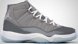 Air Jordan 11 Grey White Cool Grey 2010 Release Date