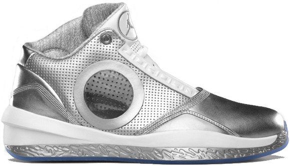 best service 38336 8b07c Air Jordan 2010 Silver Anniversary Metallic Silver White University