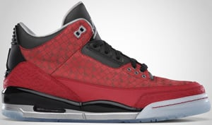 Air Jordan 3 Red Metallic Silver Black 2010 Release Date