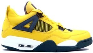 Air Jordan 4 LS Tour Yellow Dark Blue Grey White 2006 Release Date