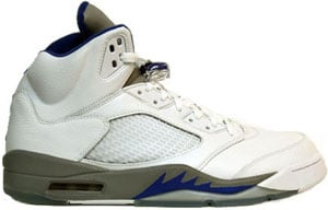 2738e4db69c8f1 Air Jordan 5 White Sport Royal Stealth 2006 Release Date