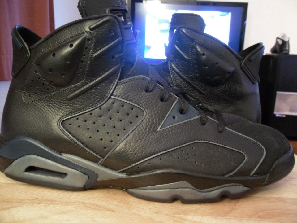 air jordan 6 all black