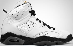 Air Jordan 6 Premium White Black 2010 Release Date