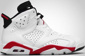 Air Jordan 6 White Red Black 2010 Release Date