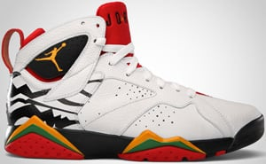 Air Jordan 7 Premio White Sol Black Red 2010 Release Date