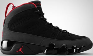 Air Jordan 9 Black Varsity Red Dark Charcoal 2010 Release Date