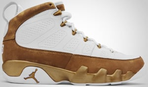 Air Jordan 9 Premio White Metallic Gold 2010 Release Date