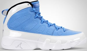 Air Jordan 9 University Blue White Black 2010 Release Date