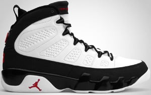 Air Jordan 9 White Varsity Red Black 2010 Release Date