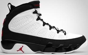 hot sale online 6e235 ff1b9 Air Jordan 9 White Varsity Red Black 2010 Release Date