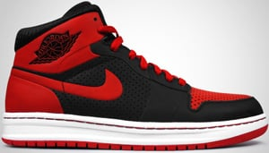 classic fit 75054 12bc5 Air Jordan Alpha 1 Black Varsity Red White 2010 Release Date