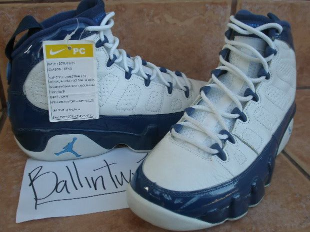 Air Jordan IX (9) Retro Sample - White Blue Pearl  f45540ef58