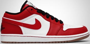 Air Jordan Phat 1 Low White Red Black Gum 2010 Release Date