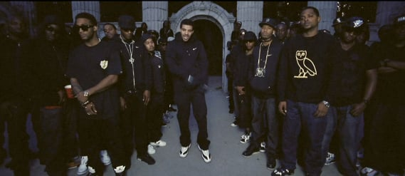 Drake Rocks Air Jordan 11 I.E. in Headlines Music Video