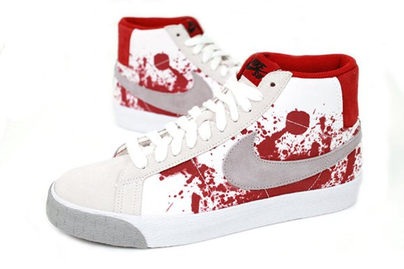 Nike SB Blazer High Blood Splatter Halloween Sneakers