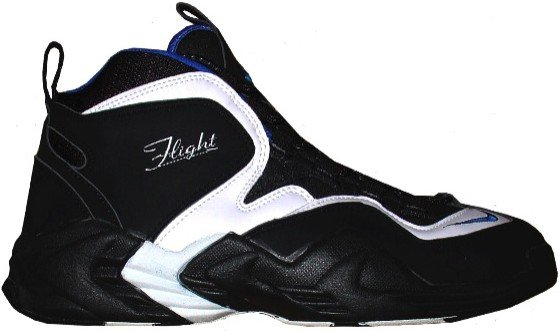 timeless design 02efc 63c24 Penny Hardaway Nike Air Go LWP Black White Blue Away Original