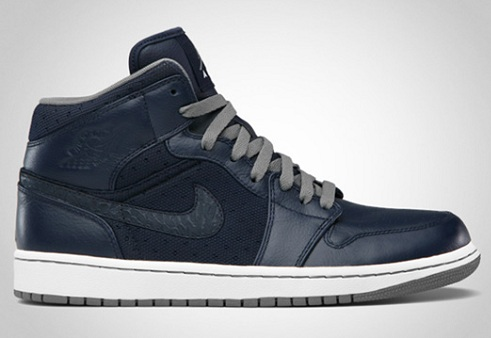 Air Jordan I (1) Phat - Obsidian/Cool Grey-White