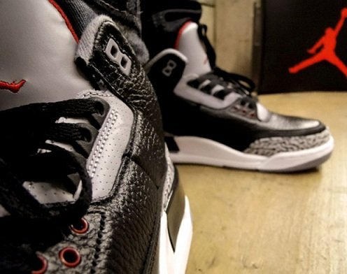Air Jordan Retro III (3) Black Cement - On-Feet Images