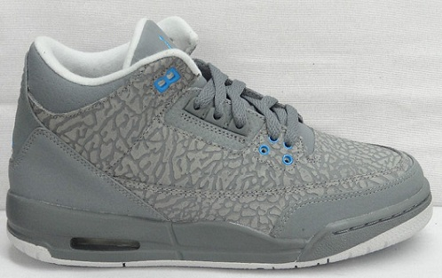 Air Jordan Retro III (3) GS - Cool Grey Flip