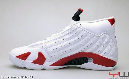 Air Jordan Retro XIV (14) White/Sport Red-Black - More Images