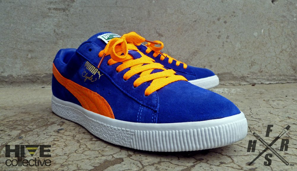finest selection 2d6b8 17dff Fresh & Fly Customs - Puma Clyde Suede 'Spider Veins ...
