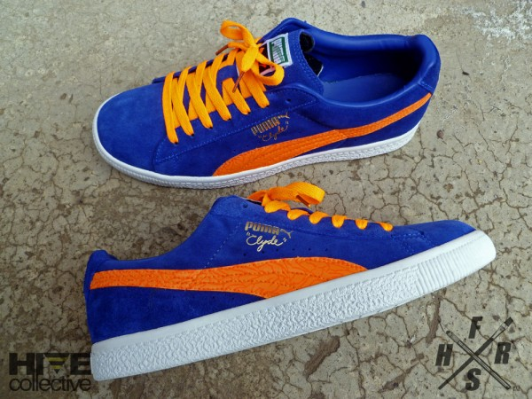 Fresh & Fly Customs - Puma Clyde Suede Spider Veins