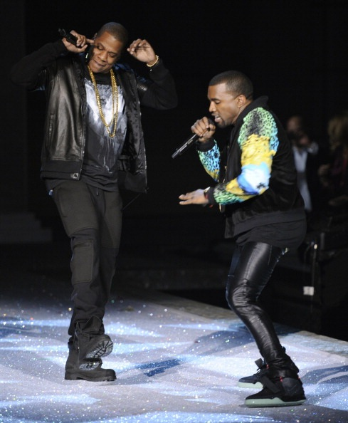 Kanye West Rocks Nike Air Yeezy 2 At Victorias Secret Fashion Show