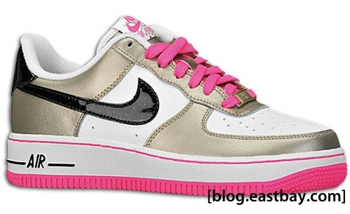 nike air force pink black white