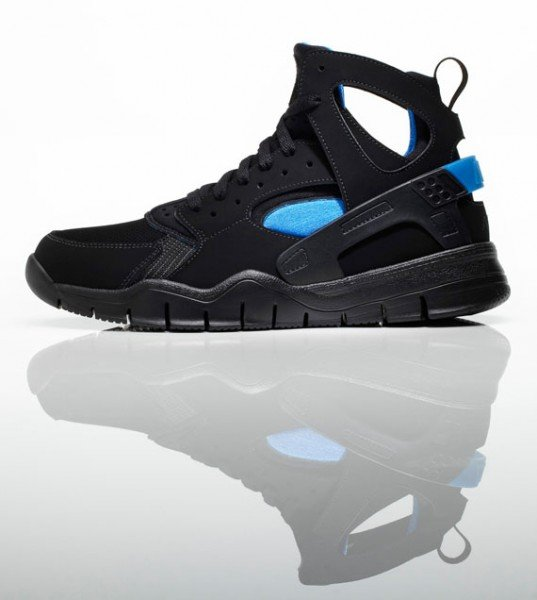 Nike Air Huarache Free Basketball 2012 QS - Black/Sagan Blue - Release Date + Info