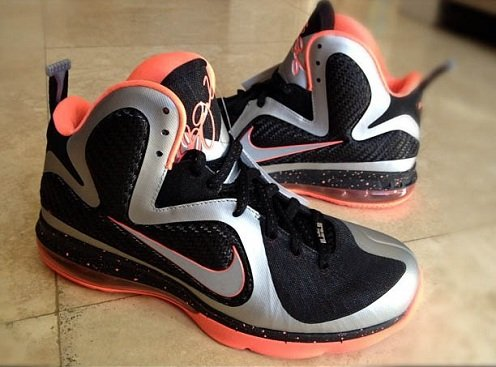 Nike LeBron 9 - Black/Metallic Silver/Bright Mango